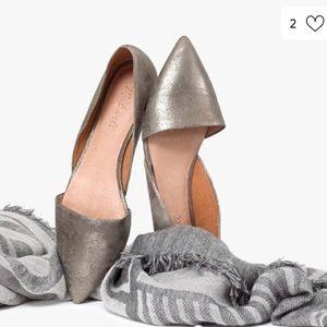 💕Madewell Lydia Metallic D' Orsay Flats 💕